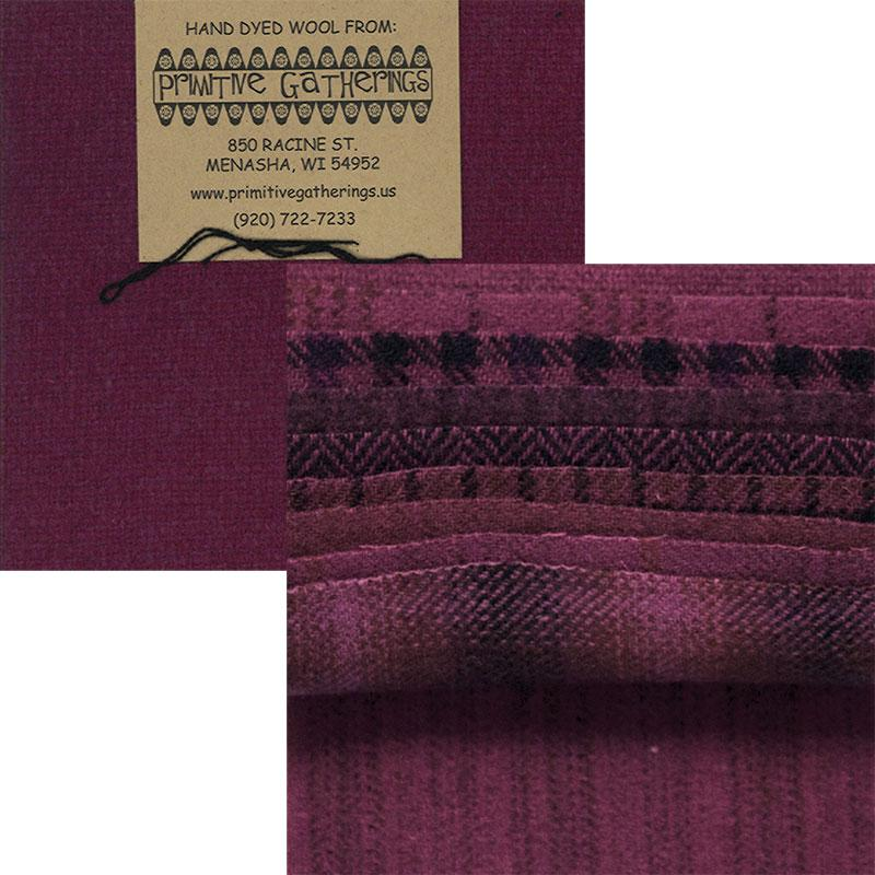 MODA Charm Pack PRI-6017 Red Grape - 10 Piece Wool Fabric