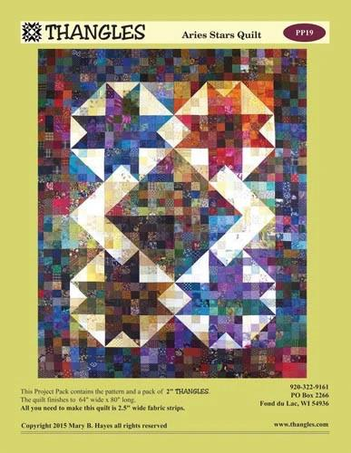THNG Thangles Aries Stars Quilt Pattern - PP19