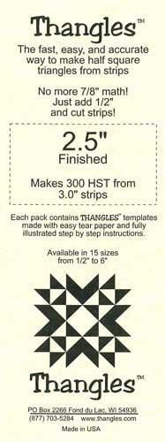 "THNG Thangles Template 2.5"" Finished - 02.50"