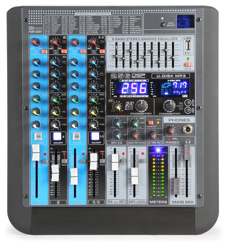 Power Dynamics PDM-S604 6-Kanal Professioneller Analog Mixer