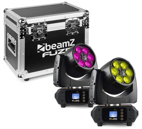 BeamZ FUZE610Z Moving Head Wash Set 2x im Flightcase - Lightronic Showequipment