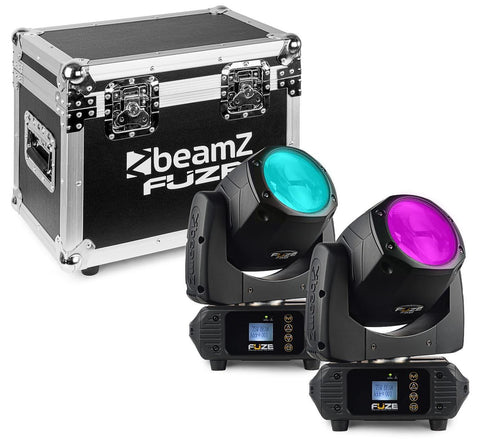 BeamZ FUZE75B 75W Moving Head Beam Set 2x im Flightcase - Lightronic Showequipment