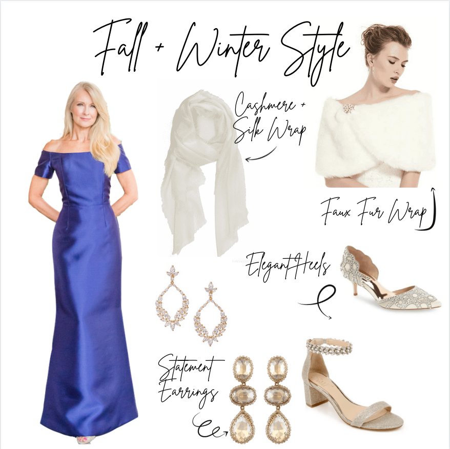Fall Mother of the bride dress, winter mother of the bride dress