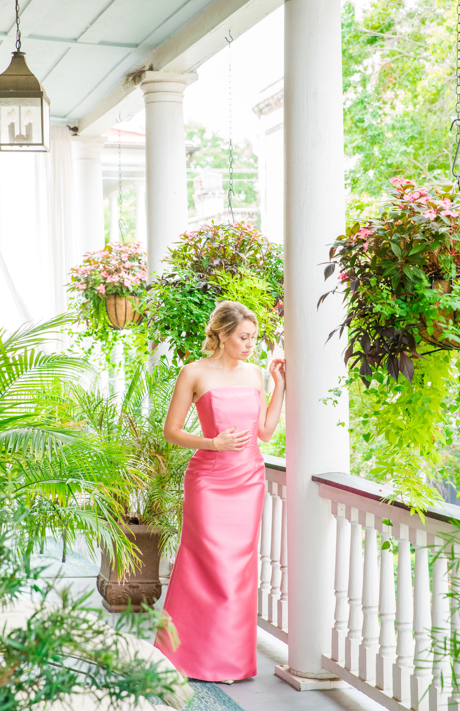 Pink Mother of the bride dress, Pink Bridesmaid Dress, Pink formal gown