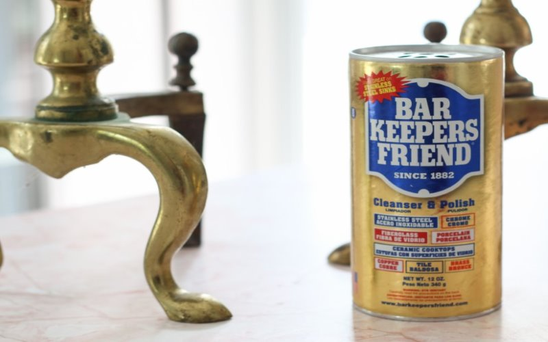easy solution to clean brass hardware on furniture
