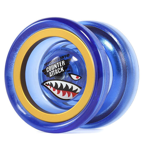 Counter Attack Yo-Yo Blue/Gold Rings