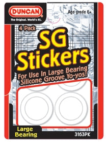 Duncan Silicone Groove (SG) Stickers (Four Pack)