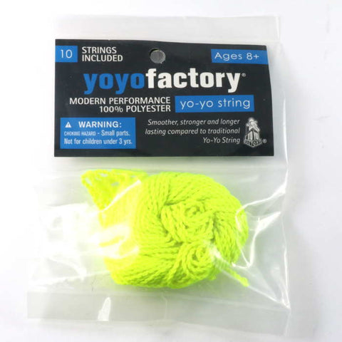 10 Pack Polyester YoYo String Yellow