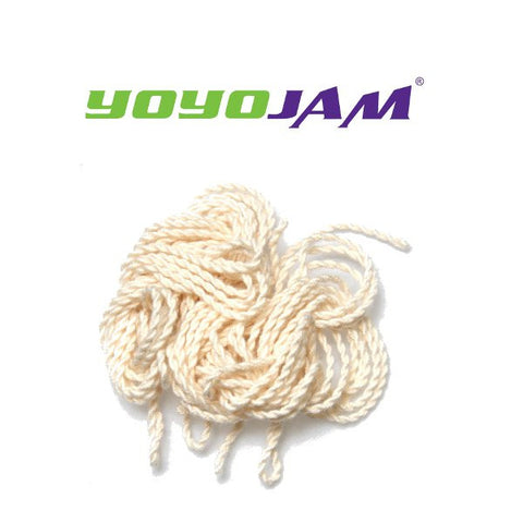 10 Pack 100% Cotton YoYoJam Strings WHITE