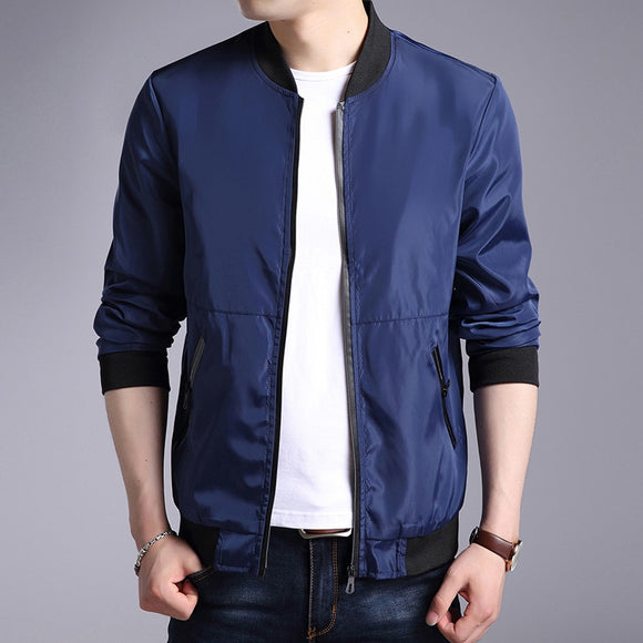MRMT 2020 Brand New Mens Jacket Solid Color Slim Collar Casual Men Jackets Clothing Coat Outer Wear Clothing Garment