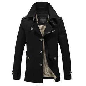 MRMT 2020 New Men's Jacket Coat Long Casual Overcoat for Male Jacket Trench Coat Outer Wear Clothing