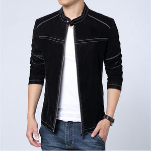 MRMT 2020 Brand Autumn Men's Jackets Frosted Casual Collar Leather Jacket for Male Slim Leather Jacket Outer Wear Clothing