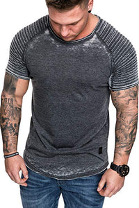 MRMT 2020 Brand New Summer Men's  Casual Wrinkle Pure Color  for Male Casual Fashion Short-sleeved Tops