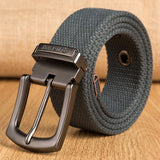 Men Canvas Belt  Mens Workout Waist Knitted Belt Casual Jeans Belt Unsex Needle Buckle-Belt Male Tactical Brand Cintos 140Cm