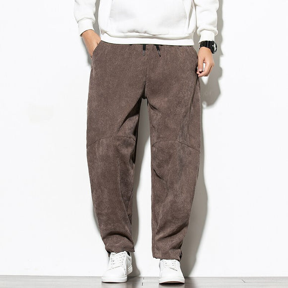 2020 New Corduroy Harem Pants Men Fleece Warm Trousers Joggers Casual Pants Men Sweatpants Hip Hop Streetwear Male 5XL