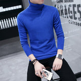 MRMT 2020 Brand Autumn and Winter New Men's Pullover Sweaters for Male High-collar Casual Solid-colored Wool Base Sweater