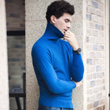 MRMT 2020 Brand New Autumn and Winter Men's Long Sleeves Pure High-collar Sweater Slim for Male Pullover Knitted Sweater
