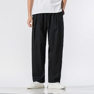 Summer 2020 Mens Straight Casual Harem Pant Men Loose Pantalones Hombre Chinese Style Male Vintage Khaki Ankle-Length Pants 5XL