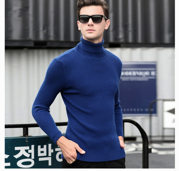 MRMT 2018 brand autumn and winter new men's turtleneck sweater Slim pullover men's pure cashmere bottoming sweater