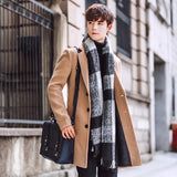 MRMT 2020 Brand Men's Jackets The Overcoat  The Pure Color The Long Style Woolen  Overcoat for Male Outer Wear Clothing