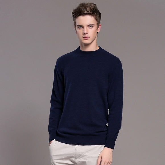 MRMT 2020 Brand Men's Cashmere Sweater Pullover Solid Color Pullover for Male Half-high Collar Base Warm Sweater