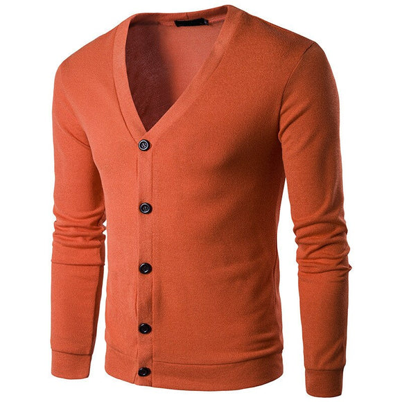 MRMT 2020 Brand Spring and Autumn Men's Sweaters Fashion Pure Color V Collar Cardigan Knitted Sweaters for Male  Clothing