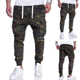 Men Camouflage Tactical Cargo Pants Men Joggers Boost Casual Streetwear sweatpants Hip Hop Ribbon Male army Trousers M-4XL