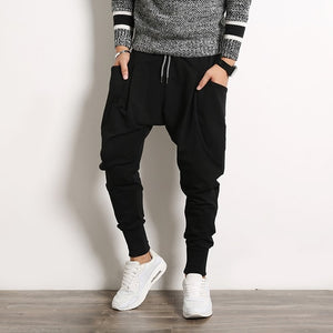 Men cross Pants Casual Elastic Cotton Mens Fitness Workout  Baggy Pants Skinny Sweatpants Trousers Jogger pencil Pants 5XL