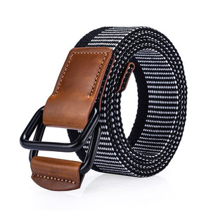 Tactical Belt  Military Belts For Women Canvas Men Belts for Jeans with High Waist Double Buckle Famous Brand Unisex strap