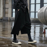 Men Punk Harem Pants Mens Baggy Hiphop  Trousers Wide Legs Pants male black Cross-pants Jogger Dance Hiphop Hombre Pantalon