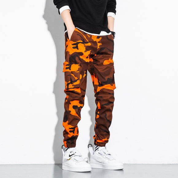 Men's Camo Cargo Pants 2020 Men Hip Hop Casual Harem Pants Male Joggers Trousers Fashion Casual Streetwear Pants 6XL 7XL