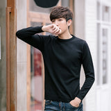 MRMT 2020 Brand Autumn New Men's Sweater Round Neck Solid Color Pullover for Male Slim Casual Youth Sweater