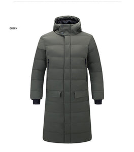 MRMT 2020 Brand New Men's Jackets Thickening Overcoat for Male Leisure Long Cotton-padded Pure Color Hooded Jacket Clothing