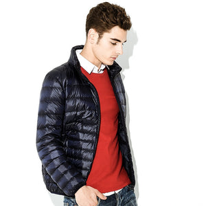 MRMT 2020 Brand Winter New Men's Jackets Light Down Short Young for Male Vertical Collar Large Size Down Jacket Clothing