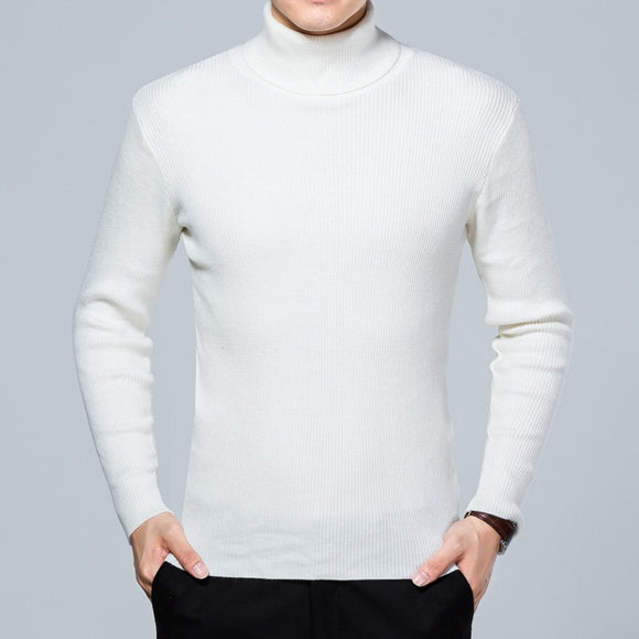 MRMT 2020 New Autumn and Winter Men's Turtleneck Sweater Solid Color Wool Long-sleeved Sweater for Male Sweater