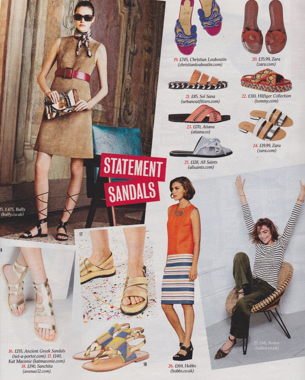TIMES MAGAZINE x STATEMENT SANDALS