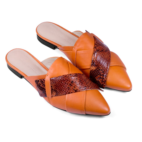 ORIGAMI SLIPPER - Terracotta