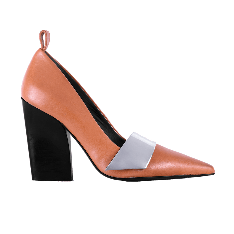 Nine to Fiver Tan Pump - Profile