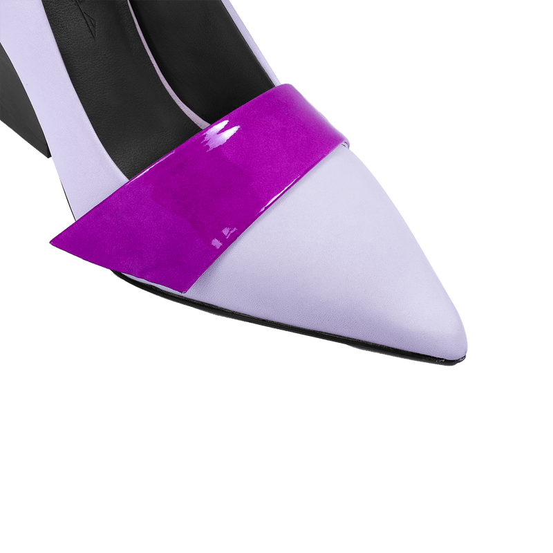 Nine to Fiver Pump in Lavender - Ultraviolet Strap