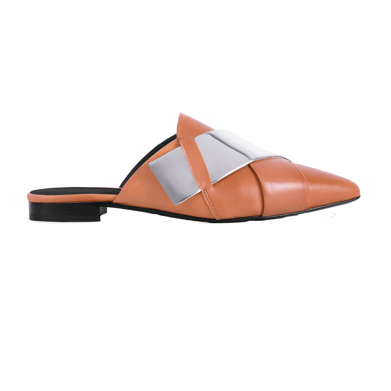 Origami Tan Slipper - Profile