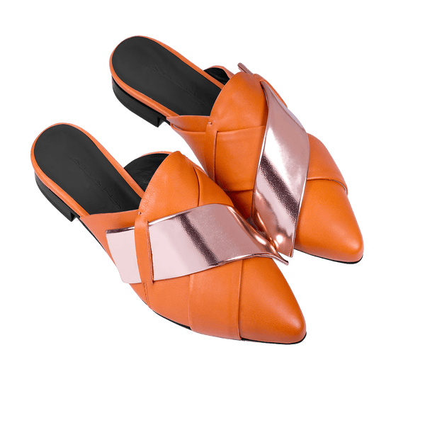 Origami Slipper in Terracotta
