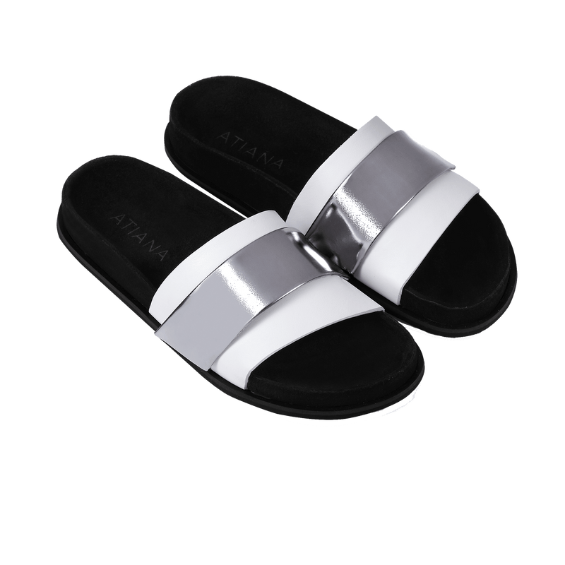 Triptych Sandal in Bone