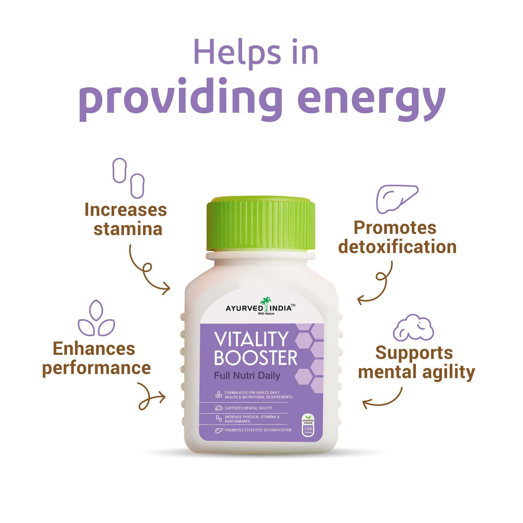 Full Nutri Daily (Vitality booster) | 100 tablets - Ayurved India