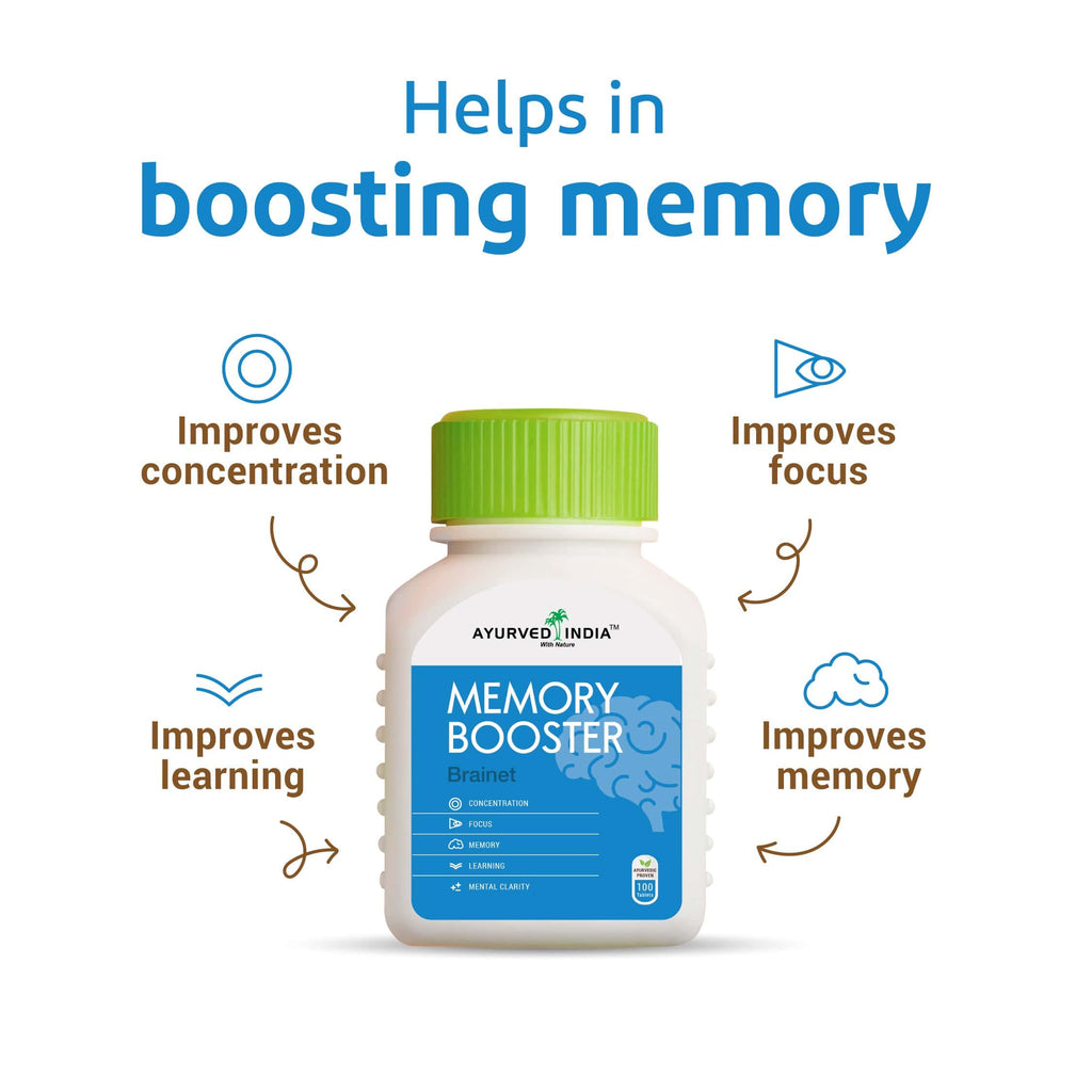 Brainet (Memory Booster) | 100 Tablets - Ayurved India