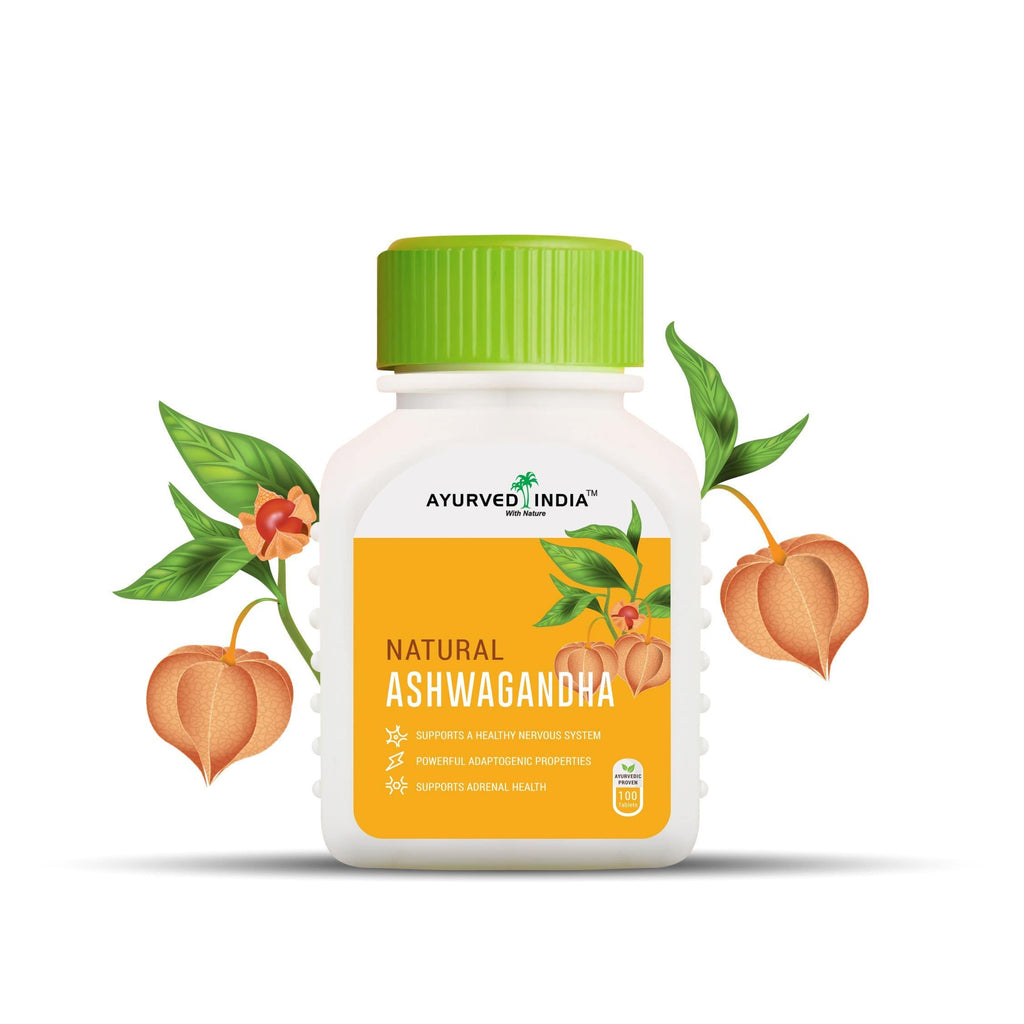 Ashwagandha | 100 Tablets Single Herbs Ayurved India