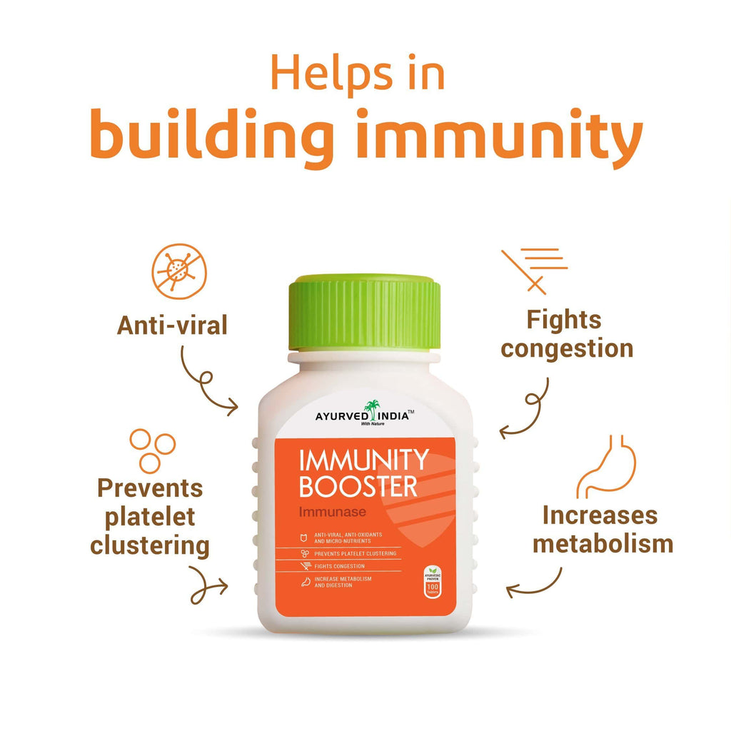 Immunase (Immunity booster) | 100 tablets Mix Herbs Ayurved India