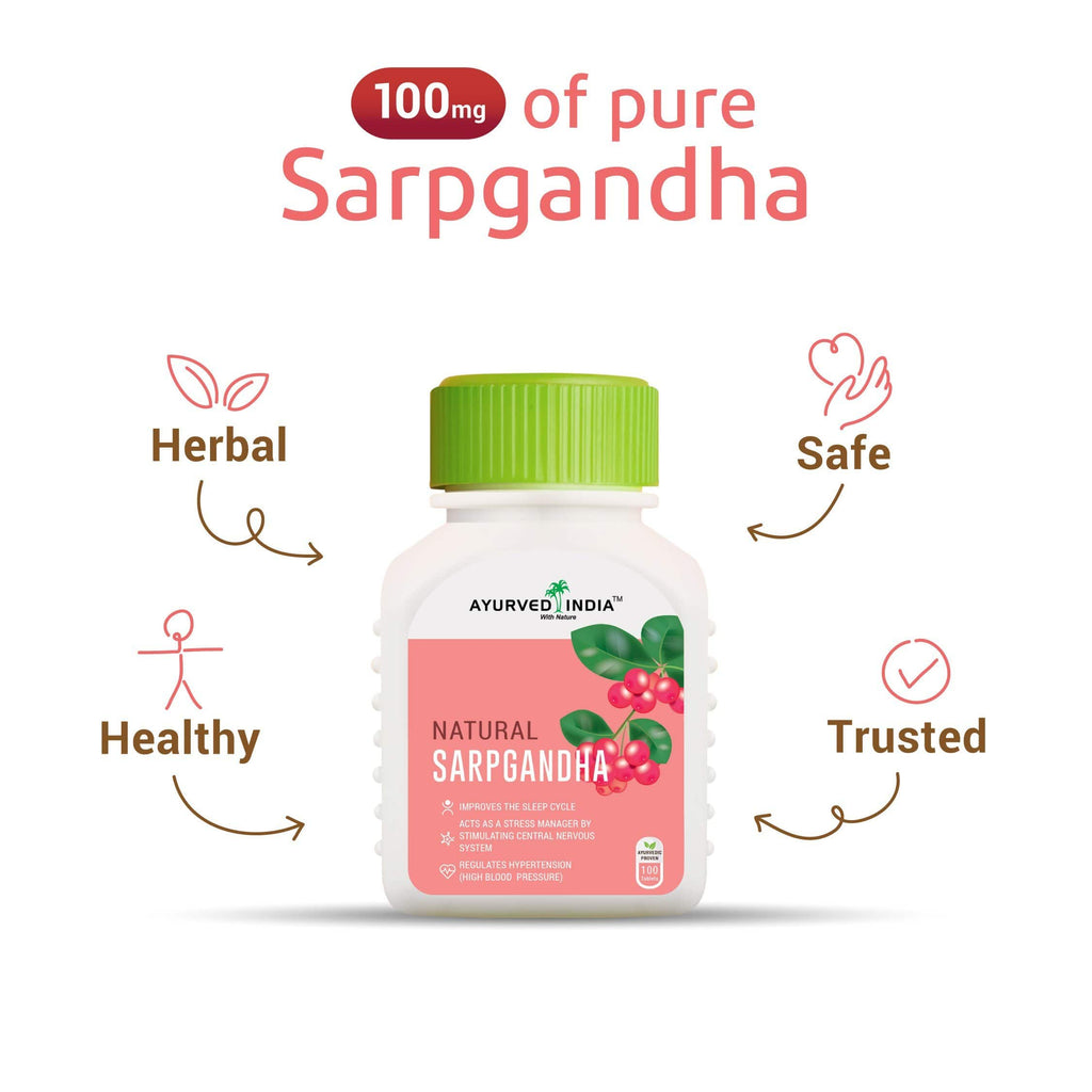 Sarpgandha-ds | 100 tablets Single Herbs Ayurved India