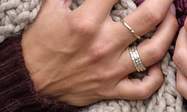 Stackable Ring Set - Lined