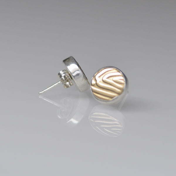 Mozzafiato Stud Earrings - Brass