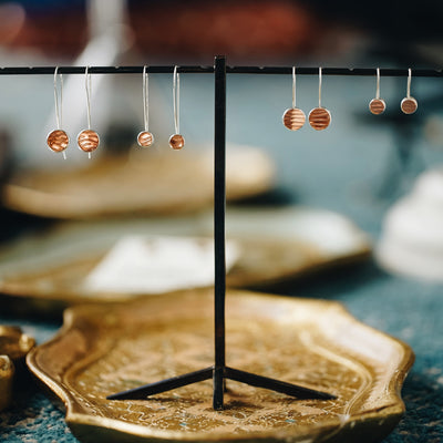Mozzafiato Drop Earrings - Short Copper